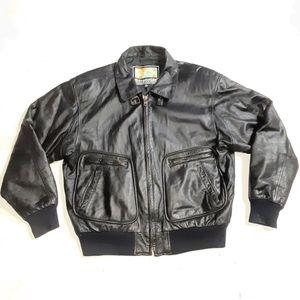 Stratojac Men's Leather Bomber Jacket